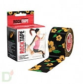 Пластырь (кинезиотейп) RockTape Design, 5см х 5м, ЦВЕТЫ